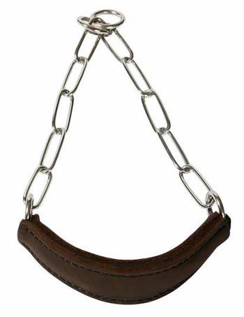 Выставочный ошейник (ринговка) с кожаным кадыком